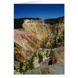 Yellowstone Grand Canyon Card