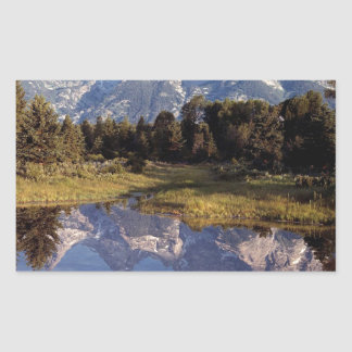 Yellowstone Grand Teton Reflections Sticker