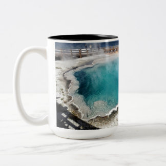 Yellowstone Hot Spring National Park in Wyoming Two-Tone Coffee Mug