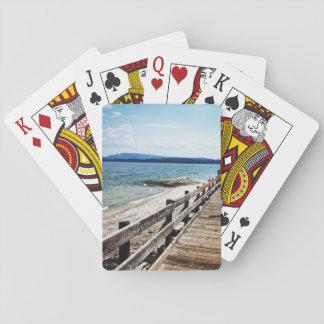 Yellowstone Lake Boardwalk Playing Cards