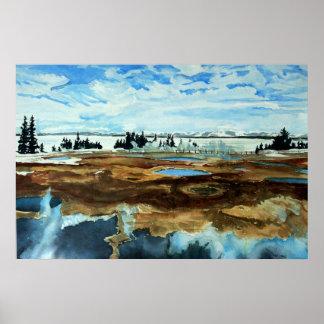 Yellowstone Lake in Winter Poster
