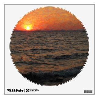 Yellowstone Lake Sunset Wall Sticker