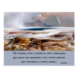 yellowstone landscape postcard