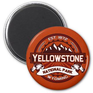 Yellowstone Logo Crimson Magnet