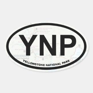 Yellowstone map sticker (black text)