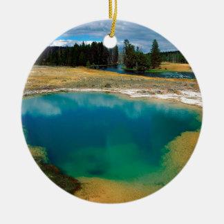 Yellowstone Morning Glory Pool Wyoming Ceramic Ornament