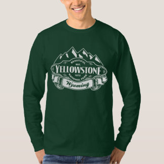 Yellowstone Mountain Emblem White T-Shirt