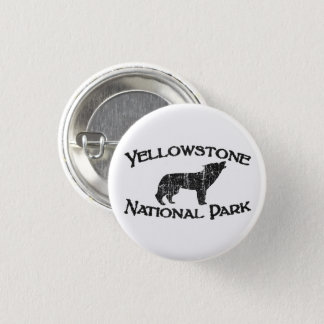 Yellowstone National Park 1 Inch Round Button
