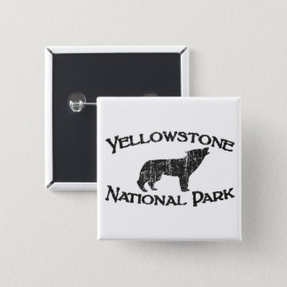 Yellowstone National Park 2 Inch Square Button