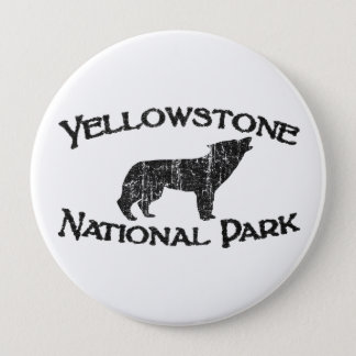 Yellowstone National Park 4 Inch Round Button
