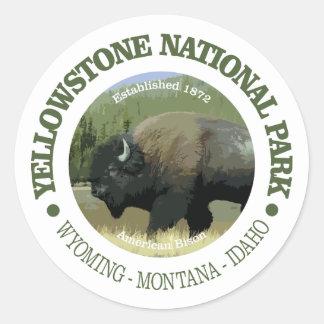 Yellowstone National Park (bison) Classic Round Sticker