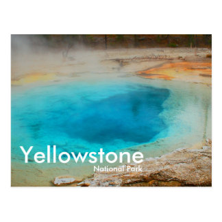 Yellowstone National Park, Blue Pool Postcard