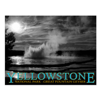 Yellowstone National Park Great Fountain Geyser Postcard