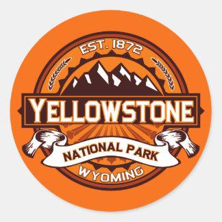 Yellowstone National Park Logo Classic Round Sticker