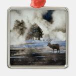 Yellowstone National Park Metal Ornament