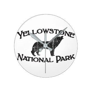 Yellowstone National Park Round Clock