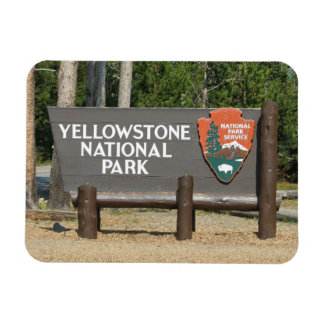 Yellowstone National Park, sign, Wyoming, U. S. Magnet