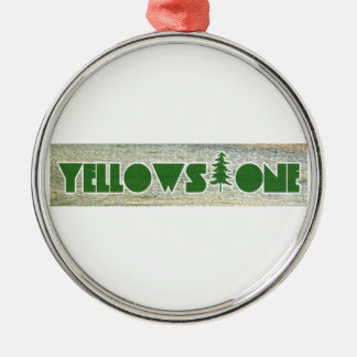 Yellowstone National Park Silver-Colored Round Ornament