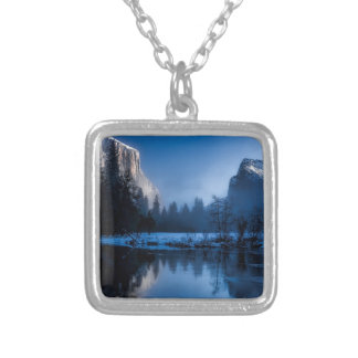 yellowstone-national-park silver plated necklace