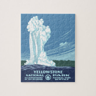 Yellowstone National Park Souvenir Jigsaw Puzzle