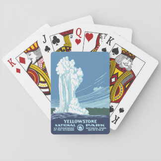 Yellowstone National Park Souvenir - Vintage WPA Poker Deck