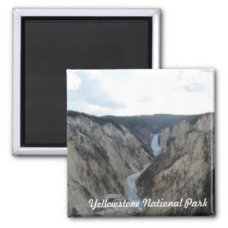 Yellowstone National Park Square Magnet