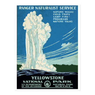 Yellowstone National Park Vintage Poster Postcard
