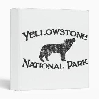 Yellowstone National Park Vinyl Binders