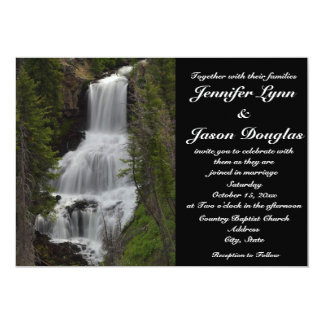 Yellowstone National Park Waterfall Wedding Invite