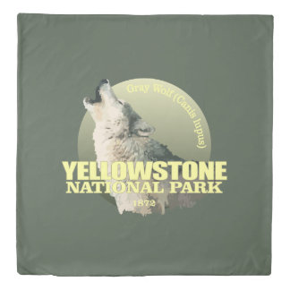 Yellowstone NP (Gray Wolf) WT Duvet Cover