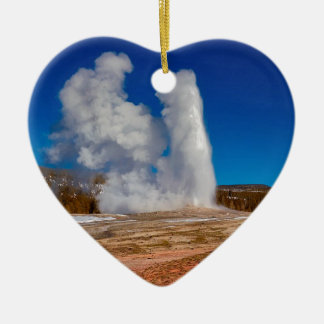 Yellowstone Old Faithful Ceramic Ornament