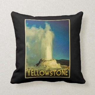 Yellowstone Old Faithful Throw Pillow