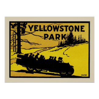 Yellowstone Park Poster