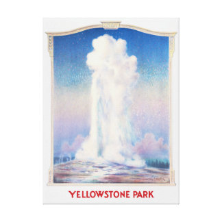 Yellowstone Park Poster Canvas Print