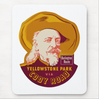 Yellowstone Park via Cody Road Mouse Pad