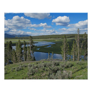 Yellowstone River Scenic View Poster