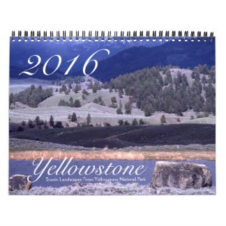 Yellowstone Scenic Nature Landscape USA 2016 Wall Calendars