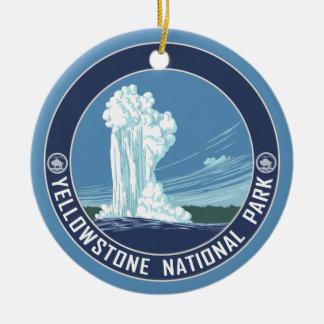 Yellowstone Souvenir - SINGLE-SIDED Ceramic Ornament
