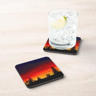 Yellowstone Sunset Beverage Coaster