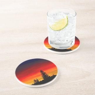 Yellowstone Sunset Drink Coasters