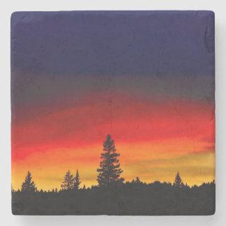 Yellowstone Sunset Stone Beverage Coaster