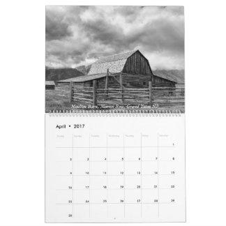 Yellowstone, The Grand Tetons, and Idaho 2017 Calendar