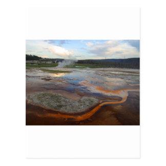 Yellowstone Thermal Pools Postcard