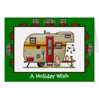 Yellowstone Trailer Camper Holiday Wish Card