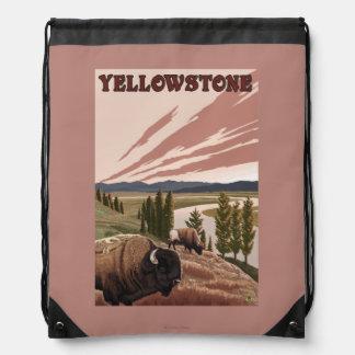 YellowstoneBison Scene Backpacks