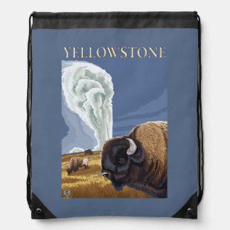 YellowstoneBison with Old Faithful Backpacks