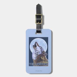 YellowstoneHowling Wolf Luggage Tag