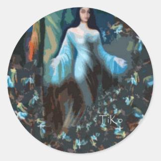yemaya classic round sticker