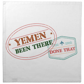 Yemen Been There Done That Napkin