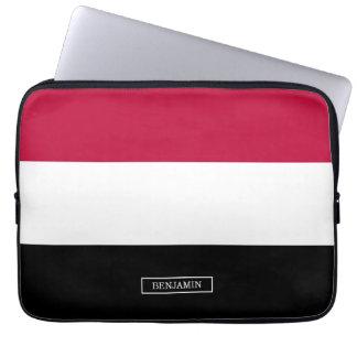 Yemen flag laptop sleeve